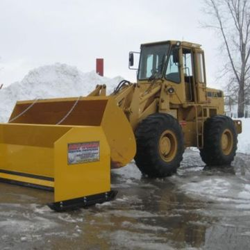 Snow removal bulldozer